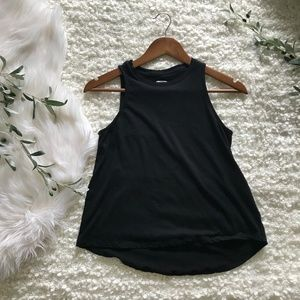 Old Navy XS Black High-Neck Muscle Tank